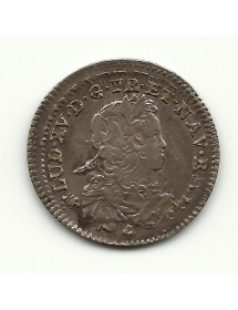 1/6 ECU LOUIS XV - Ecu de France - 1722 T