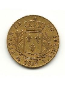 20 Frs Louis XVIII   1814L