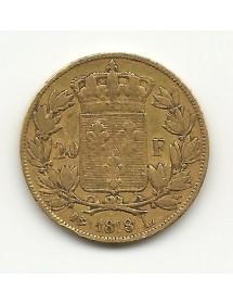 20 Frs Louis XVIII  1818L