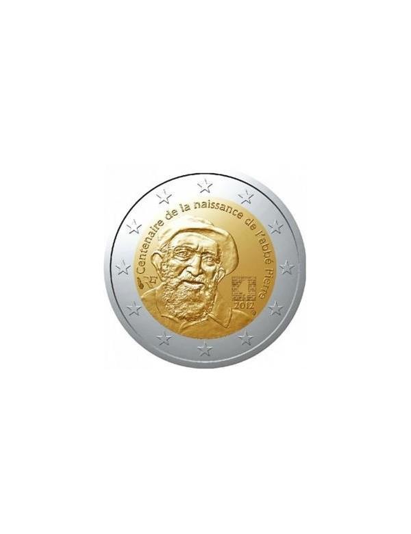 Rouleau de 25 pièces de 2 Euro L'Abbé Pierre