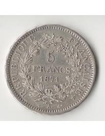 5 Francs Argent 1871 A 1