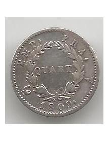 1/4 Francs Argent - Tête Laurée