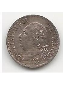 1/4 Franc Argent - Louis XVIII - Tête Nue