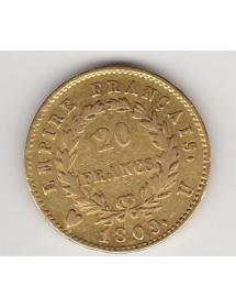 20 Francs OR - Napoléon 1er - Tête Laurée