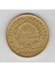 40 Francs Or - Napoléon 1er