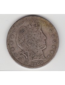Half Dollar Argent - Etats-Unis - Barber or Liberty - Head