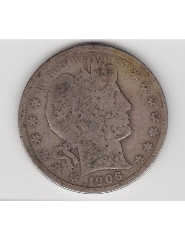 Half Dollar Argent - Etats-Unis - Barber or Liberty - Head
