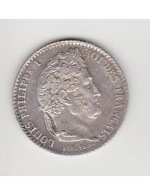 1/4 Francs Argent - Louis Philippe I - Tête Laurée