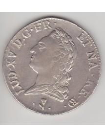 Ecu Argent - Louis XV - Vieille tête