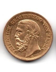 20 Mark Or - Friedrich Baden