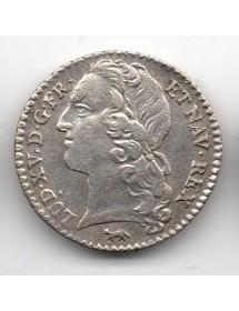 1/10 Ecu Argent - Louis XV - Au bandeau