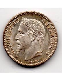 50 Centimes Argent - Napoléon III - Tête Laurée