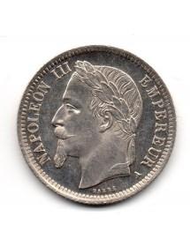 1 Franc Argent - Napoléon III - Tête Laurée