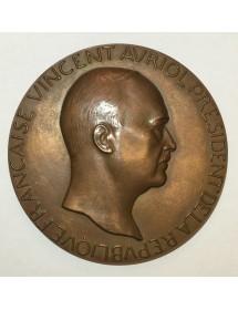 Médaille Bronze - Vincent Auriol - Président de la république