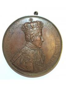 Médaille Bronze - Charles X - Sacrement du roi