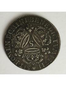1/4 Ecu Argent - Louis XIV - Aux couronnes