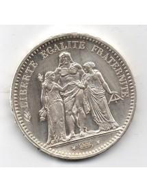 5 Francs Argent - Hercule - 2ième République