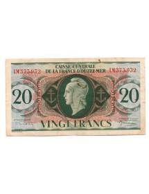 20 Francs - Guadeloupe - Type Anglais
