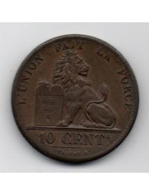 10 Centimes Cuivre - Belgique - Leopold 1er