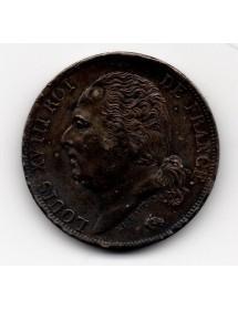 1 Franc Argent - Louis XVIII - Buste Nu