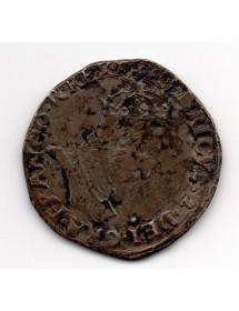 Teston Argent - Henri II - Variété II