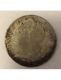 Ecu Argent - Louis XV - Au bandeau