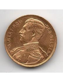 20 Francs Or - Belgique - Albert I