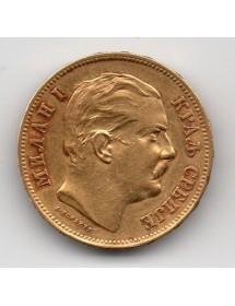 20 Dinars Or - Serbie - Milan I