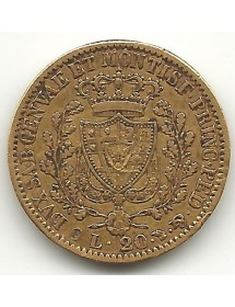 20 Lire - Charles Félix - 1828
