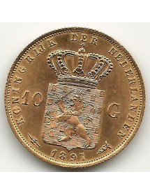 10 Florins - Wilhelmina - 1897
