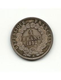 1 Franc Louis Napoléon Bonaparte - 1852 A