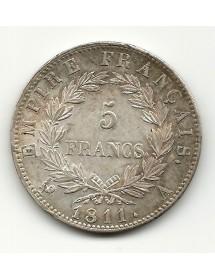 5 Francs Napoléon Emp. - 1811 A