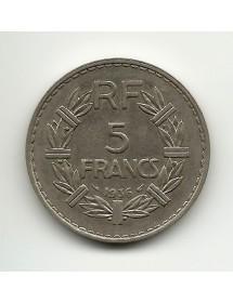 5 Francs Lavrillier - 1936