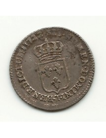 1/6 ECU LOUIS XV - Ecu de France - 1722 T