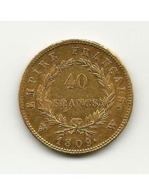 40 Francs Napoléon I 1809W