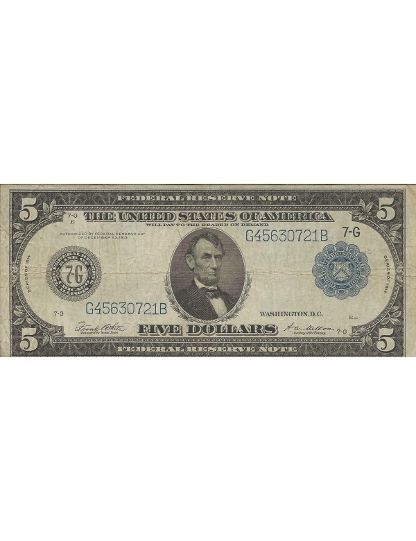 Five Dollars - Série 1913